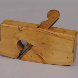 Antique 19th Century Boxwood Compass Rebate Plane