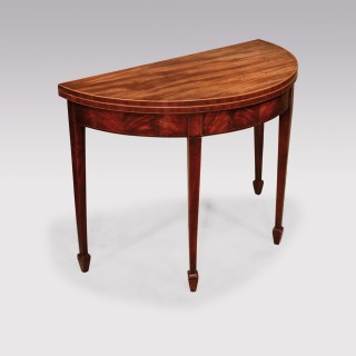 A George III period mahogany  card table