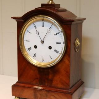 Mahogany Bell Striking Mantel Clock By Dent