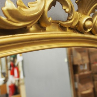 Victorian Giltwood Overmantel Mirror by John Taylor & Son
