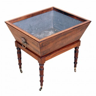 Regency Mahogany Open Wine Cooler On Original Stand