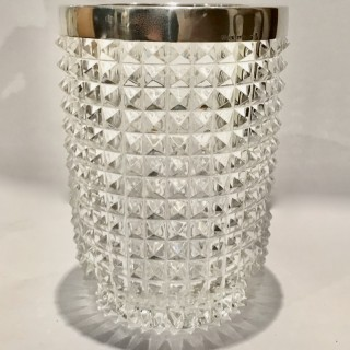 Glass and Silver Vase