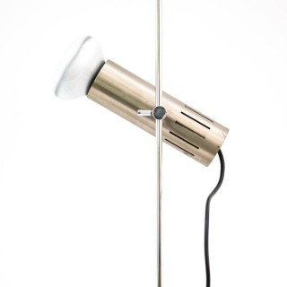 Chromed Metal And Marble Table Lamp By Alain Richard