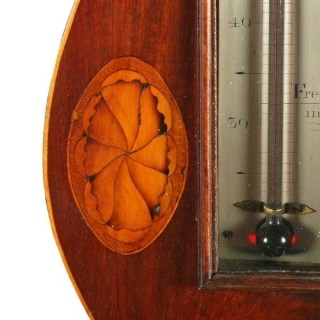 Georgian Mahogany Barometer & Thermometer