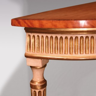 An 18th century Adam period satinwood console table
