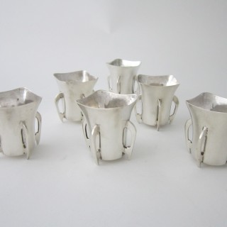 Irish Sterling silver liqueur tots
