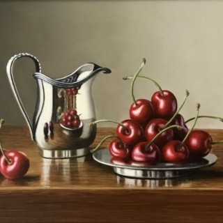 Silver Jug with Cherries