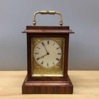 Miniature French Rosewood Mantel Clock