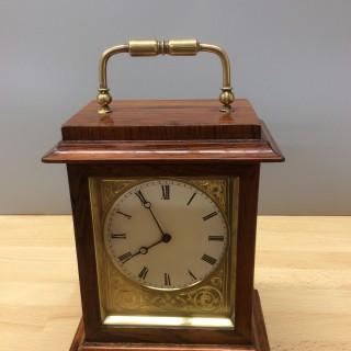 Miniature French Rosewood Mantel Clock