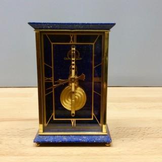 Jaeger Le Coultre Miniature Lapis Lazuli Mantel Clock