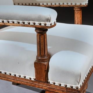 19th Century Oak Gothic Armchair By G Tilley Of Birmingham