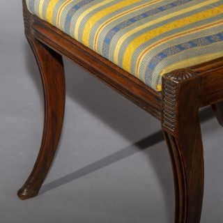 Set of Four Regency Klismos Chairs, in the manner of Marsh and Tatham
