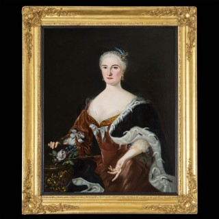 Fine 18th Century Oil on Canvas Portrait of a Lady
