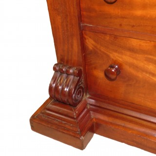 19th Century Mahogany Wellington Chest Of Drawers