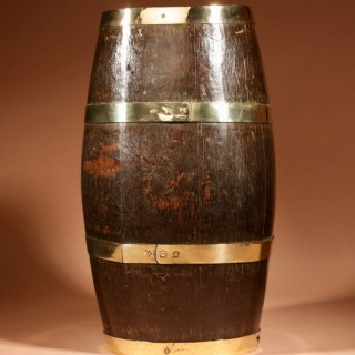 A 19th Century Original Coopered Oak Barrel Stick/Umbrella Stand.