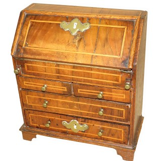 Walnut 18th Century Georgian Miniature Bureau