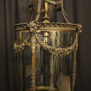 English Bronze 19th Century Antique Lantern