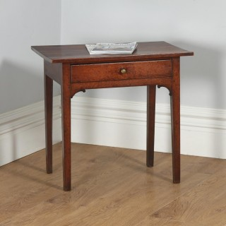 Antique English Georgian Oak Country Side / Hall / Occasional / Writing Table (Circa 1800)