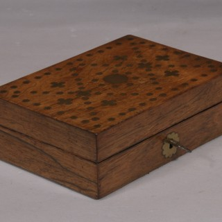 Antique 19th Century Rosewood Lidded Box
