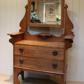 Solid Oak Arts And Crafts Chest