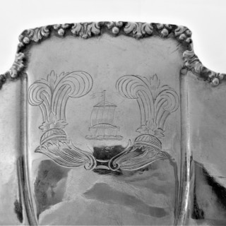 Superb crested replica of Charles II silver punch bowl London 1933 Richard Comyns