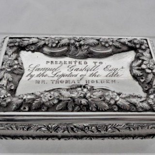Superb quality early Victorian table snuff box Birmingham 1839 Francis Clarke