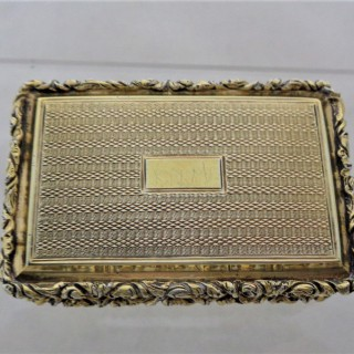 Quality Georgian silver gilt box B'ham 1828 Joseph Taylor