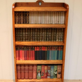 Golden Oak Open Bookcase
