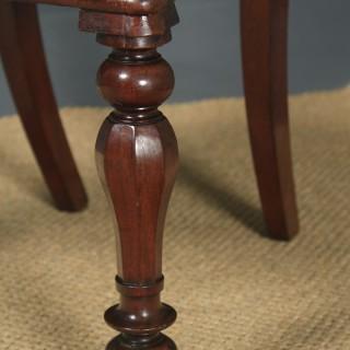 Antique English William IV Set of Six 6 Mahogany Bar Back Dining Chairs (Circa 1840)