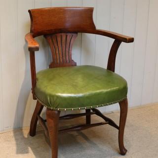 Edwardian Oak Office Chair