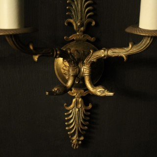 French Pair Of Empire Antique Wall Lights