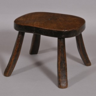 Antique 19th Century Fruitwood Lace Maker's Stool