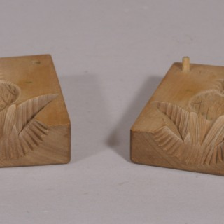Antique Treen Early 20th Century Sycamore Marzipan Mould