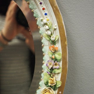 Continental Porcelain Wall Mirror