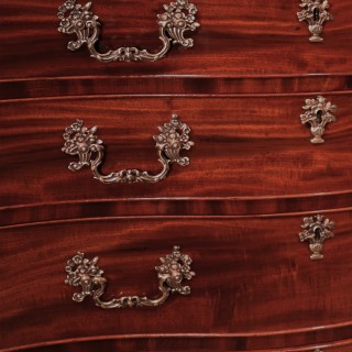 A George III period mahogany chest of drawers