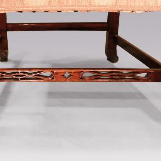 A George III period mahogany armchair
