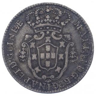 ANGOLA, D. MARIA I, SILVER 10 MACUTAS, 1796