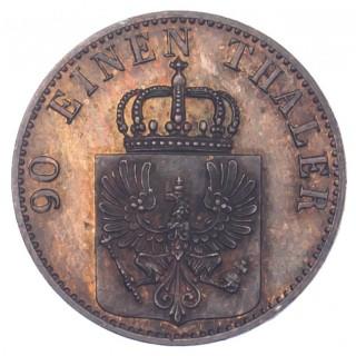 GERMANY, PRUSSIA, WILHELM I, COPPER PROOF 4 PFENNIG, 1869