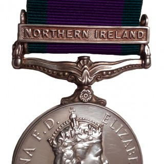 GENERAL SERVICE MEDAL 1962-2007, ONE CLASP, NORTHERN IRELAND, TO PRIVATE K.W. GODDARD