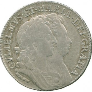 WILLIAM AND MARY, SHILLING, 1692