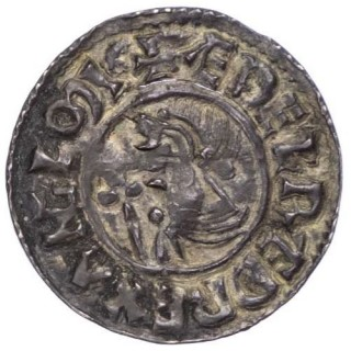 AETHELRED II (978-1016), CRUX PENNY, ROCHESTER MINT