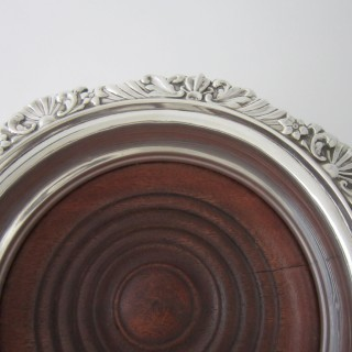 A pair of Antique Edwardian Sterling silver wine coasters