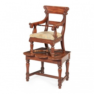 George IV Mahogany Childs Chair on Stand