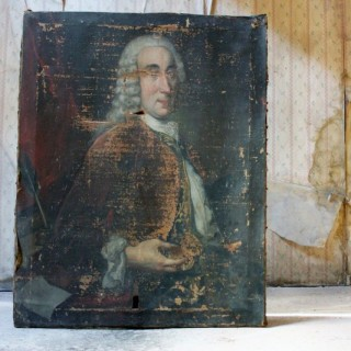 A Late 18thC French School Oil on Canvas Portrait of a Gentleman c.1790-1800