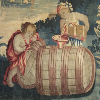 A late 17th century tapestry panel