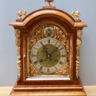 Victorian Walnut Cased Striking Mantel Clock