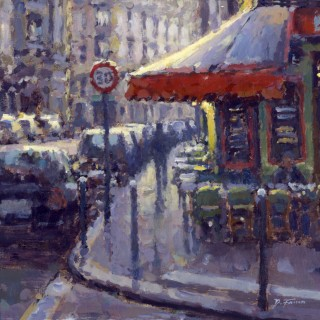 Street Corner Cafe, Paris