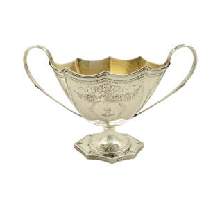 Antique Edwardian Sterling Silver Sugar Bowl 1901