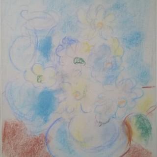 Sir Matthew Smith (1879-1959)  Still life - pastel