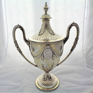 Superb armorial George III silver gilt cup & cover London 1778 Charles Wright 53 ozs